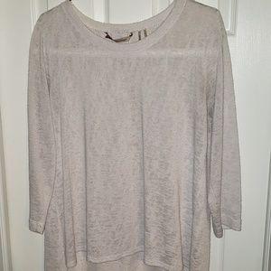 Soft surroundings white light weight sweater